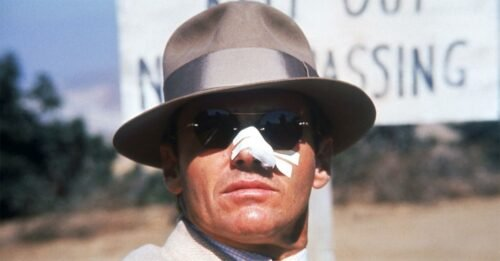 chinatown jake gittes jack nicholson naso sfregiato cerotto cappello occhiali da sole