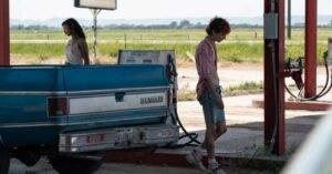 bones and all film guadagnino timothee chalamet taylor russell pompa di benzina pickup