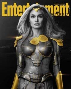 copertina digitale entertainment weekly eternals marvel thena angelina jolie