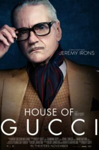 house of gucci character poster personaggi rodolfo gucci jeremy irons