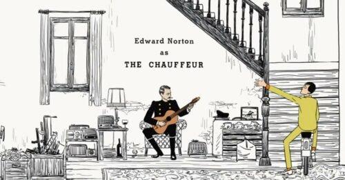 the french dispatch video musicale jarvis cocker edward norton scenografia scale