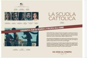 censura la scuola cattolica comunicato warner bros italia giornali la repubblica